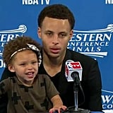 When Riley Improved the Quality of Her Dad's Postgame Interviews