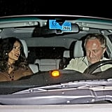Salma Hayek and Francois-Henri Pinault left West Hollywood after celebrating Halle Berry's 46th birthday.
