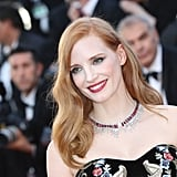 Jessica Chastain Wowed in a Ruby and Diamond Necklace by Piaget Jewelry