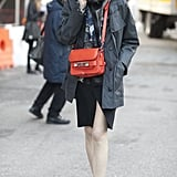 A Proenza Schouler bag provided the bright spot in this style.