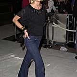 Then: Jaime was just another red-carpet-ready star in jeans and a breezy top.