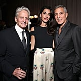 Amal Clooney White Floral Pants October 2016