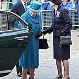 Queen Elizabeth II Closing Her Door in 2014