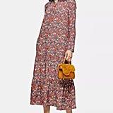 Topshop Multicoloured Peplum Smock Shirt Dress