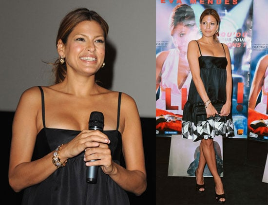 Eva Mendes at the Premiere of Live in Paris