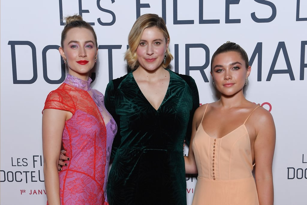 Saoirse Ronan, Greta Gerwig, and Florence Pugh at the Little Women Premiere in Paris