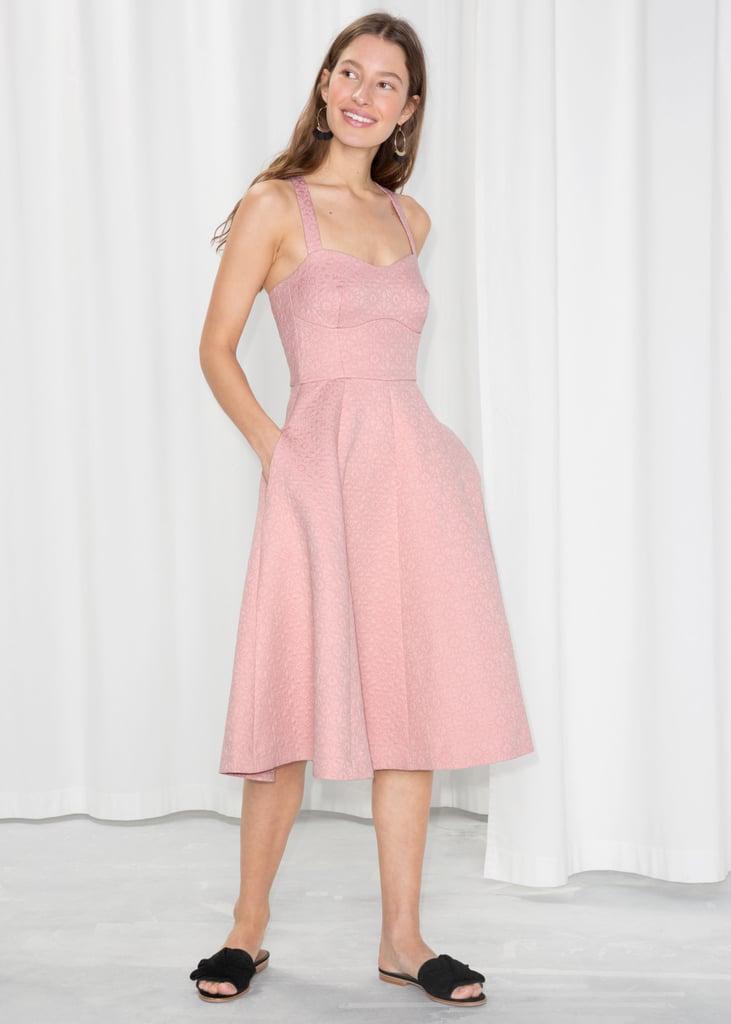 Other Stories Cross Strap Tea Dress Blake Livelys Pink Jenny