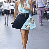 Anna Dello Russo made the run from show to show that much more stylish.