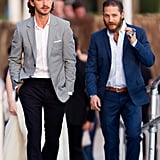 With Shia LaBeouf in Cannes in 2012.