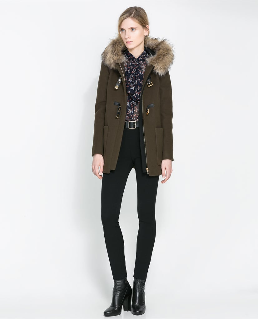 The detail on Zara's duffle coat ($269) makes it look a lot more luxe than its price tag.