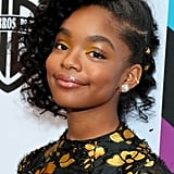 Marsai Martin's Gold Hair Accessory