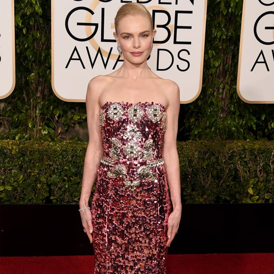 Kate Bosworth Pink Sequinned Gown Golden Globes