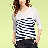 Cover all your bases with classic stripes. They look good with almost anything. We promise.  Gap Striped Circle Sweater ($40)