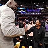 Celebrities at Kobe Bryant's Last Lakers Game April 2016