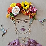 """Frida in the Garden II"" Flower Face Print ($35-$78)"