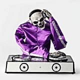 Animated DJ Skeleton Decorative Halloween Prop