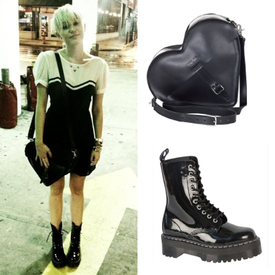 Miley Cyrus in Agyness Deyn's Dr Marten's Collection