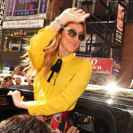 Celine Dion's Colorful Outfits
