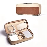 Leather & Canvas Universal Cable Organizer Electronics Accessories Case