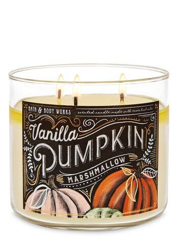 Vanilla Pumpkin Marshmallow 3-Wick Candle | Bath & Body ...