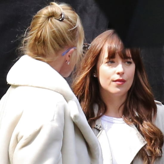 Dakota Johnson and Her Mom on the Fifty Shades Darker Set