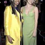 Mariah Carey and Brandy posed together backstage during the ceremony in 1996.