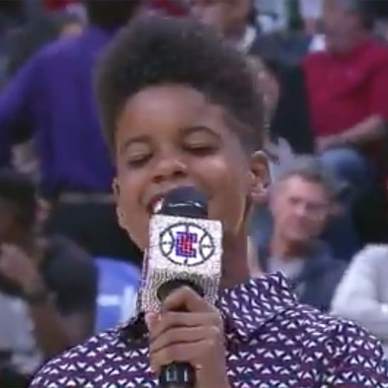 JD McCrary Singing at LA Clippers Game Video