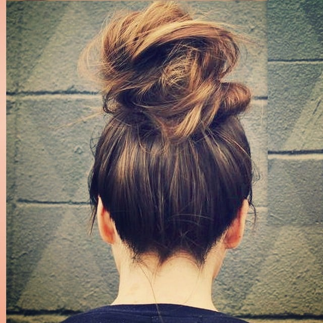 c6839988d532 Your go-to updo  A messy bun