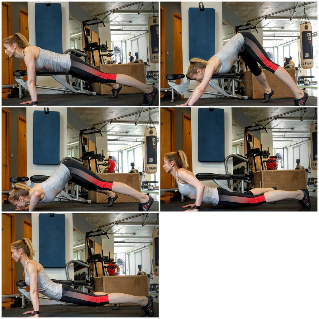 Dive bomber push ups how to do a push up popsugar - Dive bomber push up ...