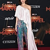 Gemma Chan in Ralph & Russo at the Captain Marvel Premiere in Hollywood