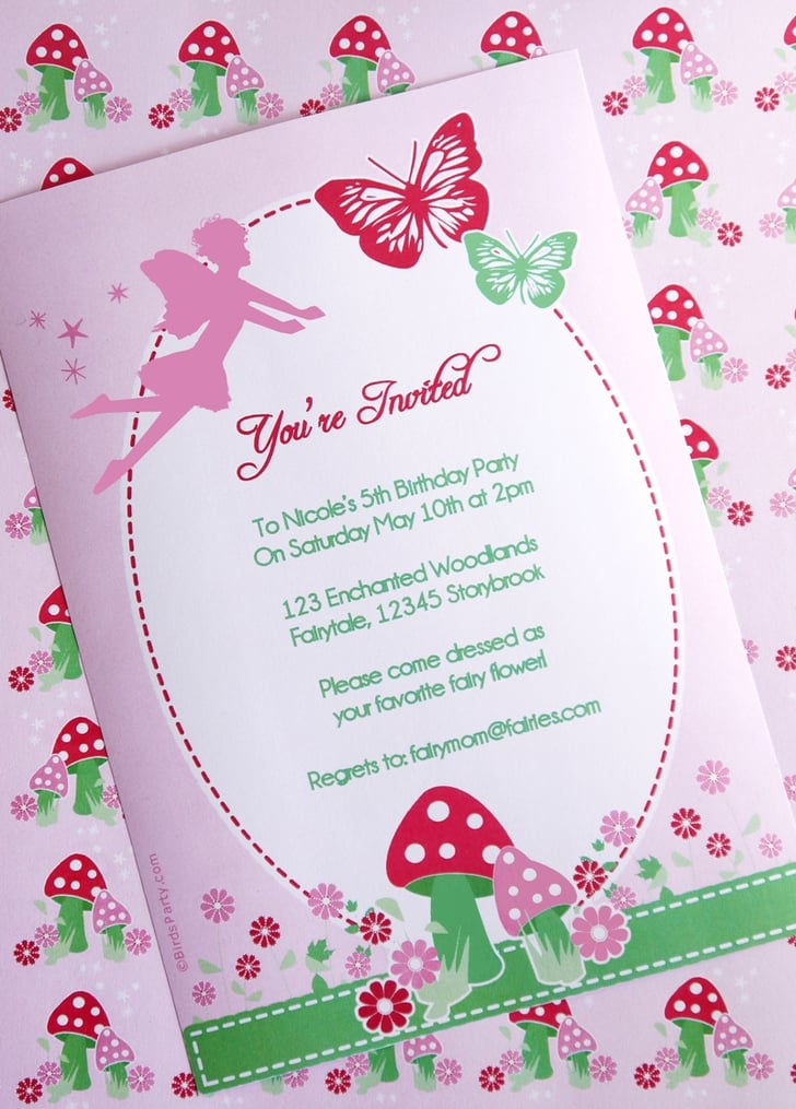 This is a photo of Amazing Fairy Birthday Invitations Free Printable
