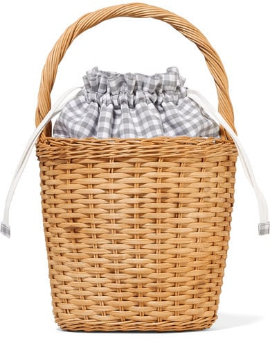 We can't get over the sweet pop of gingham on this Edie Parker wicker tote ($1,341).