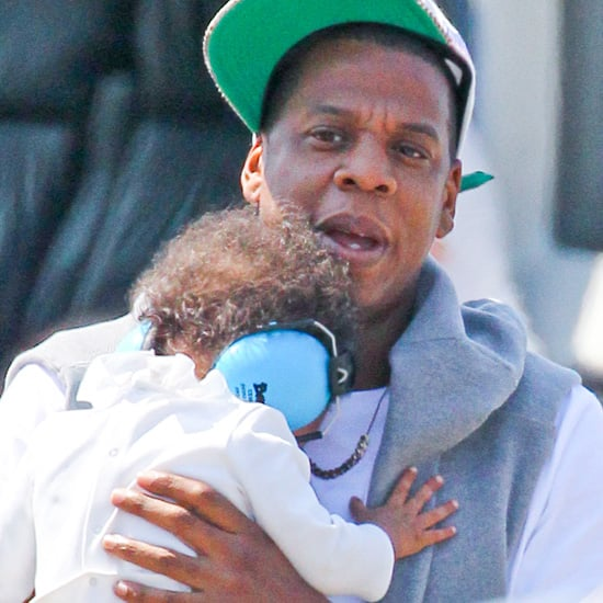 Jay-Z and Blue Carter Take a Helicopter | Pictures
