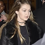 A layered choker? We've never seen her wear a necklace set like this!