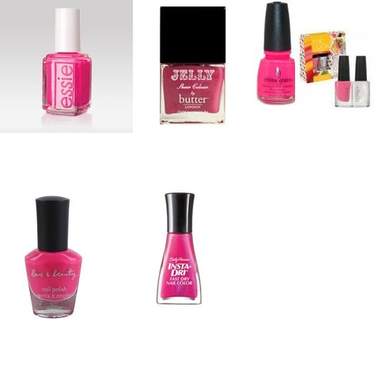 Hot Pink Polishes
