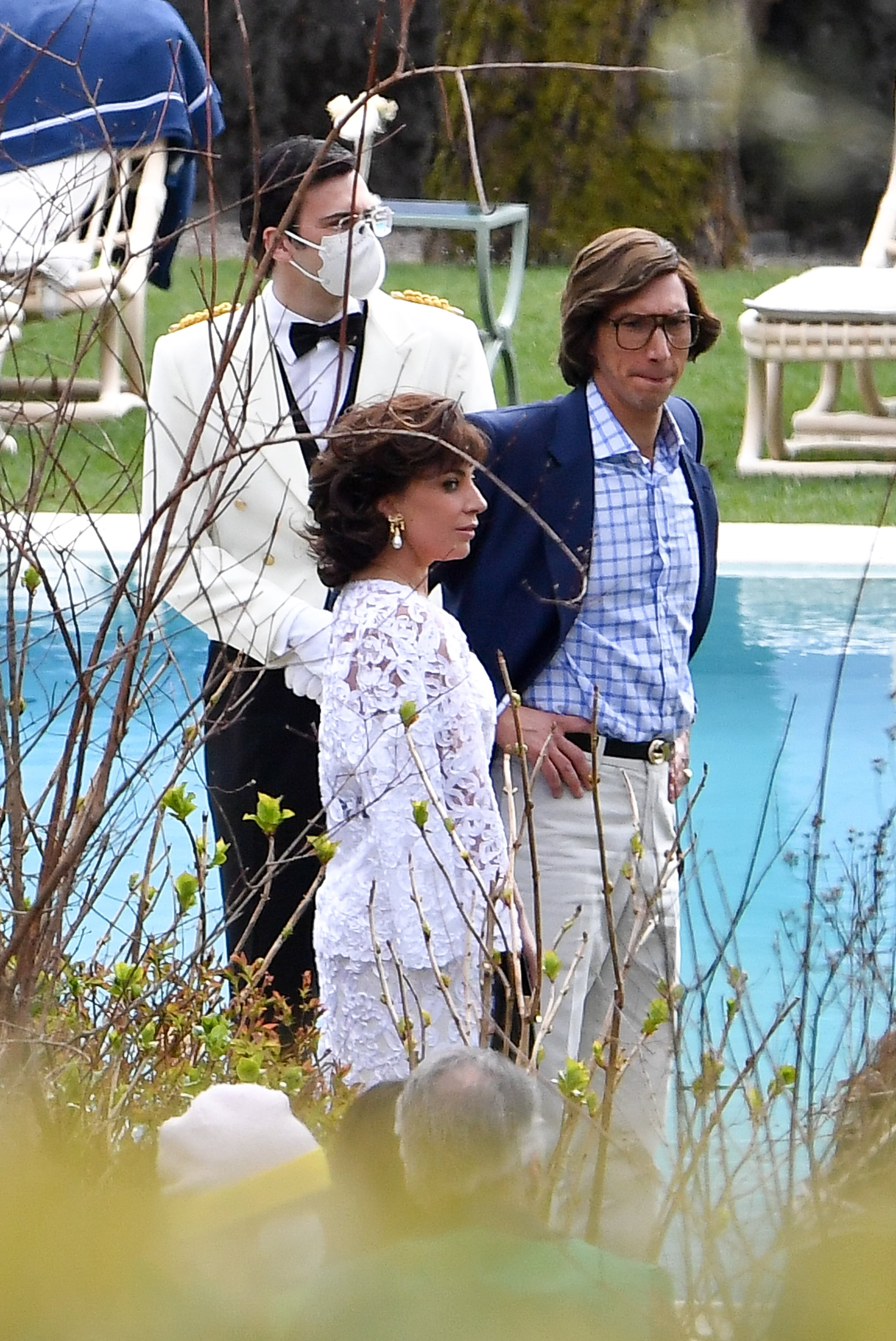 Adam Driver, Lady Gaga, and Jared Leto on House of Gucci Set | POPSUGAR Entertainment