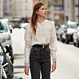 Sandro Lace Embellished Blouse