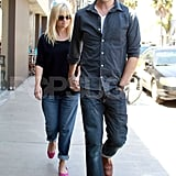 Pregnant Reese Witherspoon and her husband Jim Toth hung out in LA.