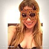 Sofia Vergara kept it nice and simple with her cat mask.