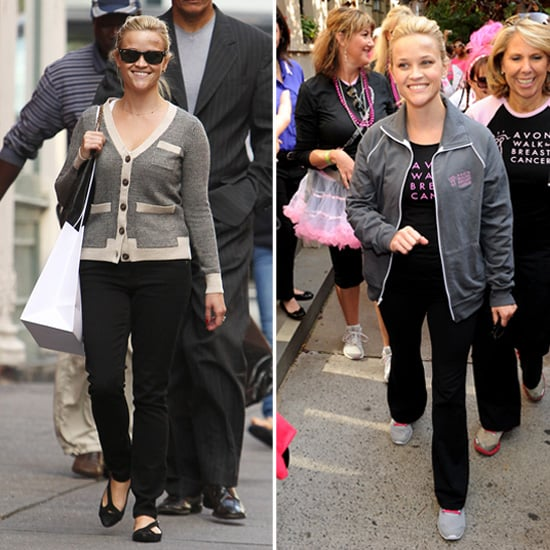 Reese Witherspoon Shops Then Walks For Breast Cancer