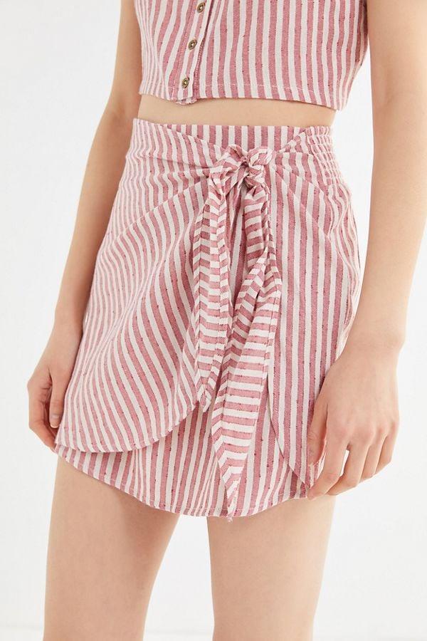 Billabong X Sincerely Jules Beyond The Palm Wrap Mini Skirt