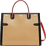Burberry Medium Title Lizard Embossed Leather Bag