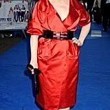 Meryl wore Donna Karan Resort to the UK premiere of Mamma Mia in 2008.
