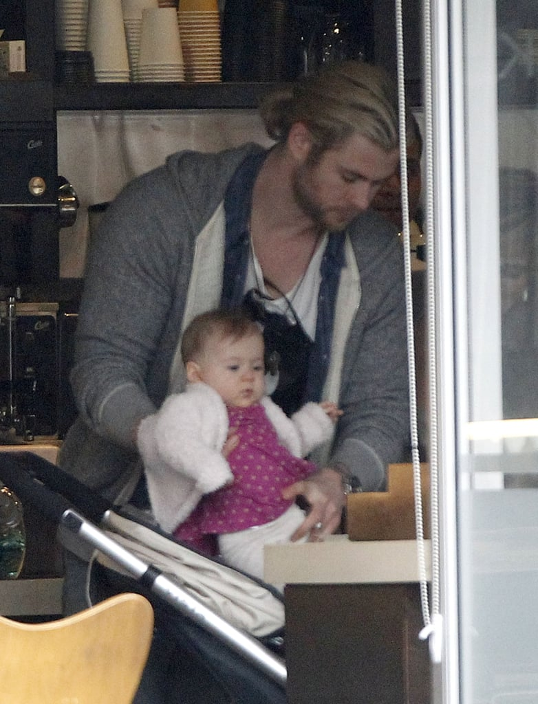 Liam and Chris Hemsworth Prepare For Christmas Eve at Miley's House