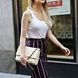 Tuck a Tank Top Into a Striped Skirt
