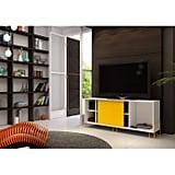 Manhattan Comfort Nacka 2.0 TV Stand in White/Yellow