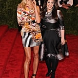 Karolina Kurkova posed alongside Mary Katrantzou wearing one of the designer's creations at the 2013 Met Gala.