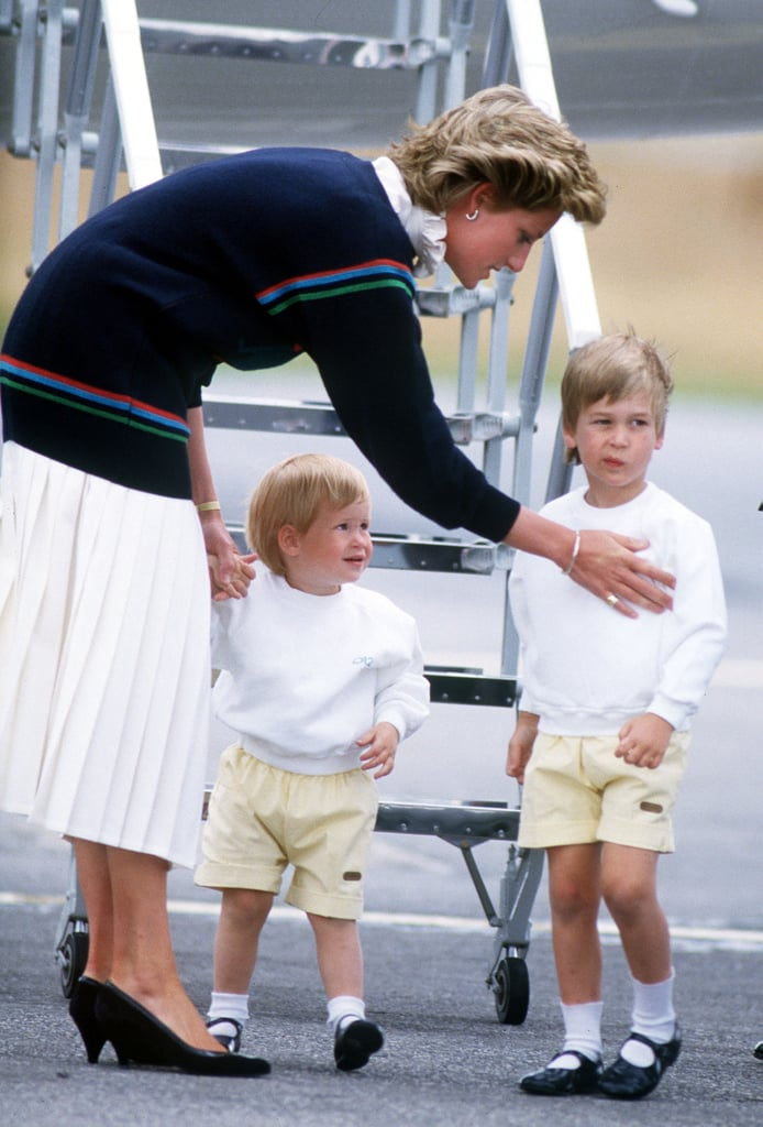 Diana Speaking to William and Harry, 1986