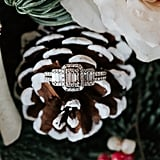 Snow-Covered Pinecone Ring Holder