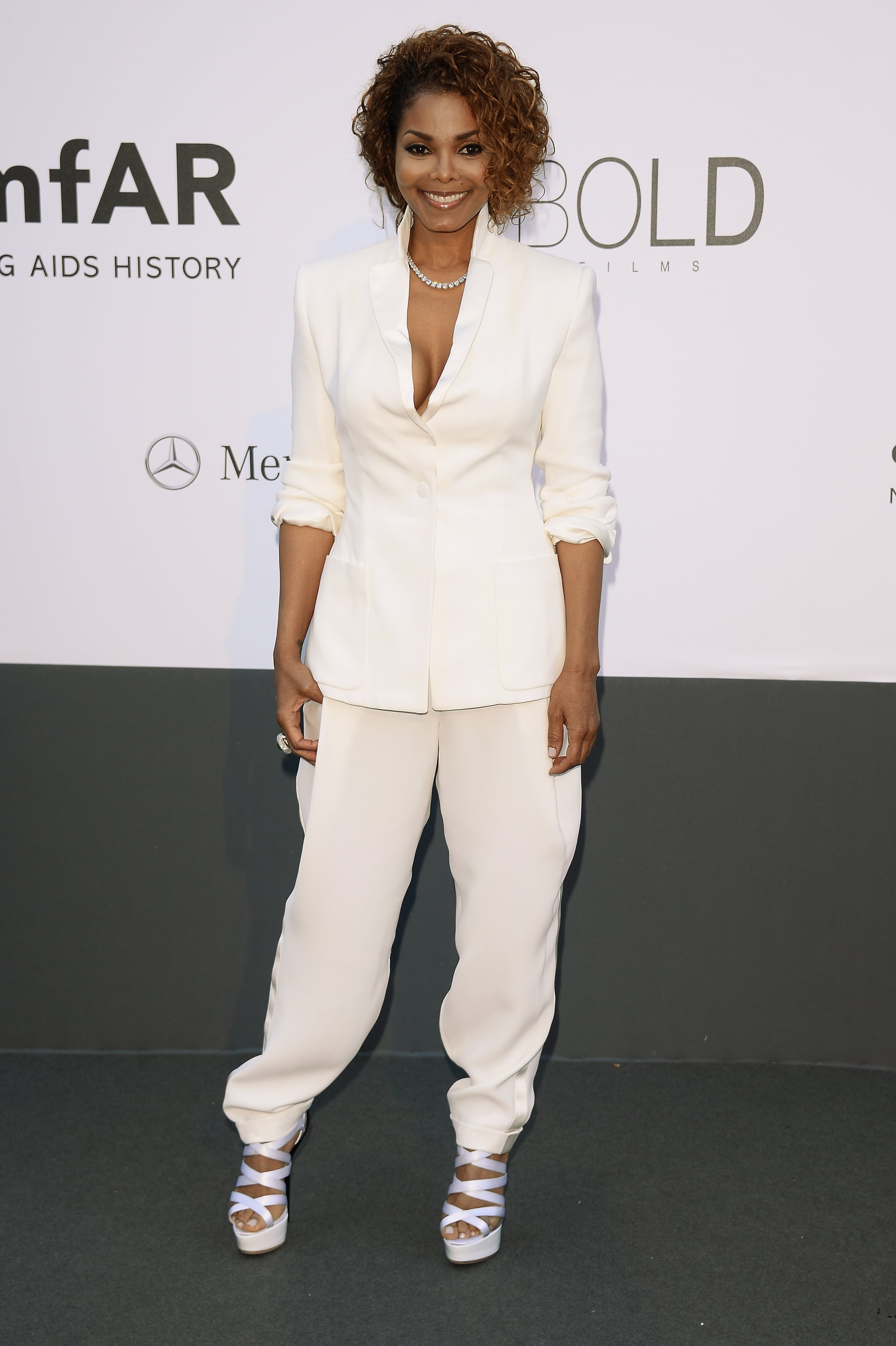Janet Jackson was decked out for the amfAR gala in Cannes on Thursday.